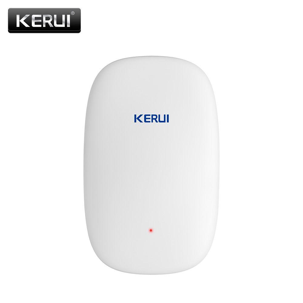 2017 NUEVO KERUI Z31 Detector de Vibración Inalámbrico Sensor de Choque Para El Hogar villa Sistema de Alarma antena + aspecto Hermoso