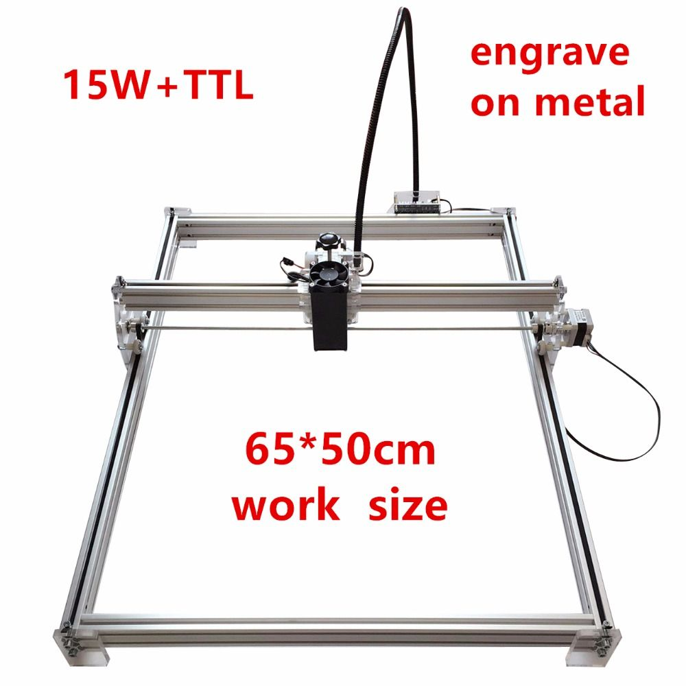 15w DIY Laser Engraving Machine For Toy Laser Cutting Machine ,15 Laser Engraver Mark On Metal,Working Area 65*50cm