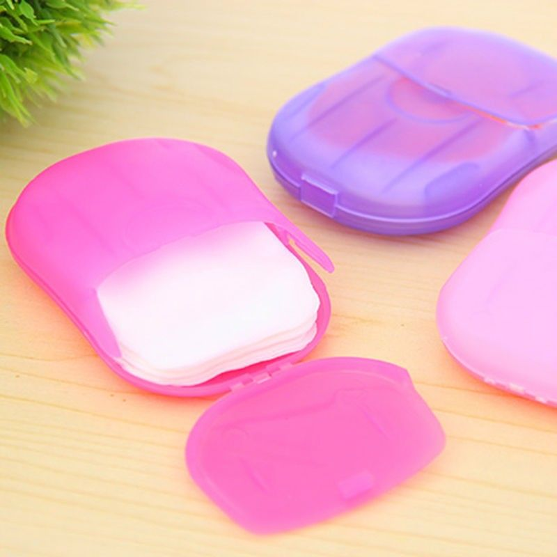 Convenient Washing Hand Wipes Bath Travel Scented Slice Sheets Foaming Box Paper Soap wholesale Drop Shipping