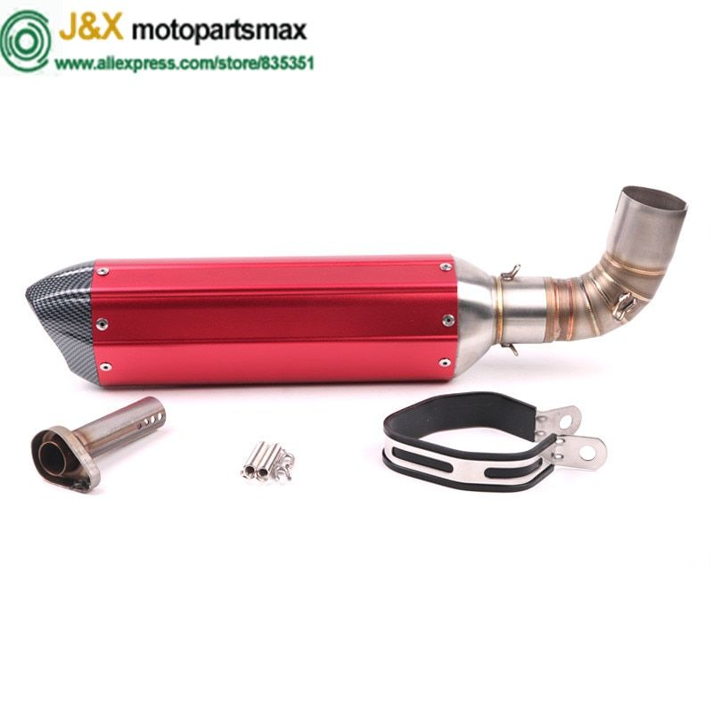 CB1000R Motorcycle Exhaust Contact Middle Link pipe + Muffler full system Slip-On for HONDA CB1000R 2010 2011 2012