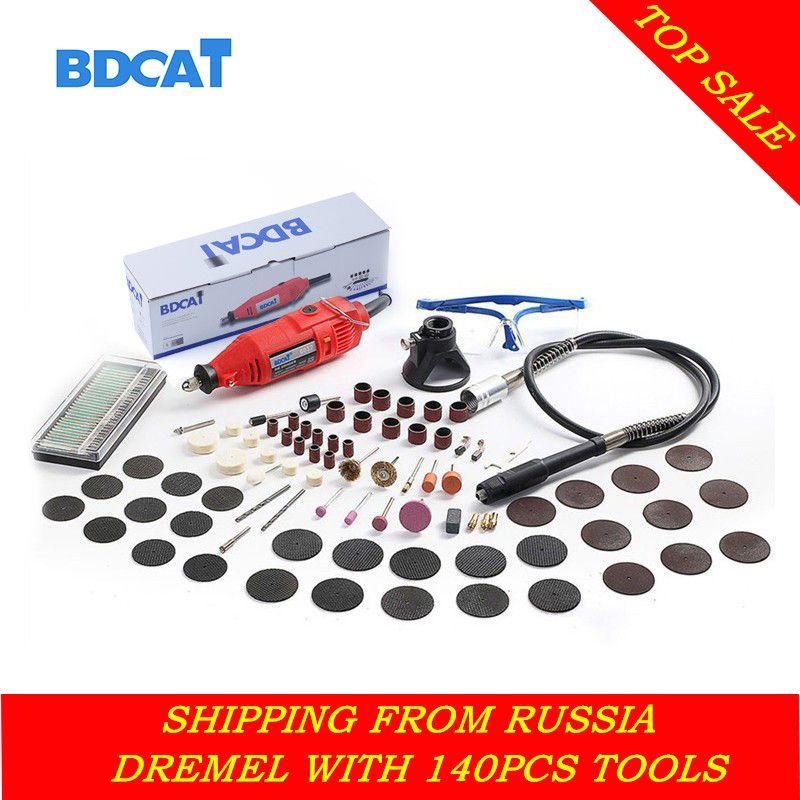 BDCAT 180 W Électrique Dremel Mini Forage polissage machine À Vitesse Variable Outil Rotatif avec 140 pcs accessoires pour Outils Électriques