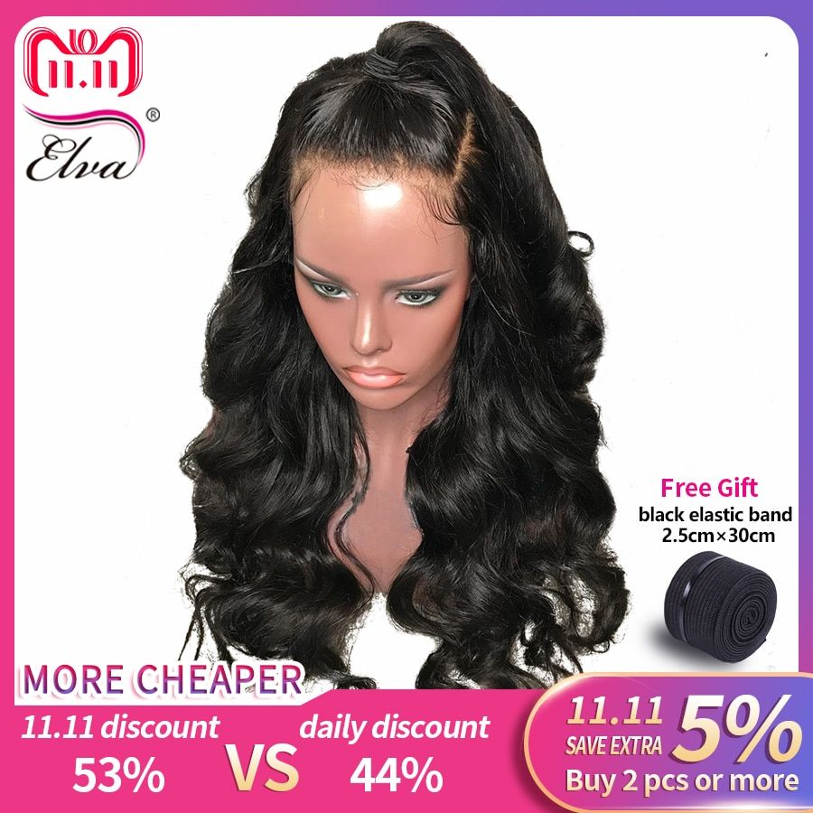 Elva Hair 180% Density 360 Lace Frontal Wig Pre Plucked With Baby Hair 10
