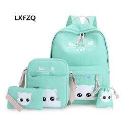 Satchel sekolah 4 set/pcs ortopedi Sekolah satchel tas Ransel untuk anak-anak Sekolah untuk gadis mochilas escolares infantis