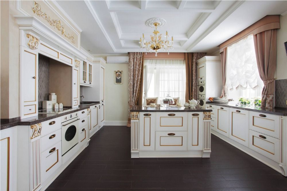 2017 solid wood painted kitchen cabinets traditional armadio da cucina muebles de cocina wooden unit kitchen furnitures S1606047