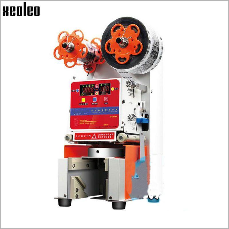 Xeoleo Automatische Tasse dicht maschine 95/90mm Automatische Tasse sealer Blase tee maschine Dichtung PP/PC/ PE tasse 460 tassen/h 220 V/50-60 HZ