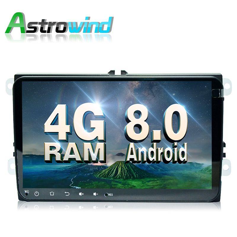 Octa Core,4G RAM,9 inch Android 8.0 Car GPS Navigation Media Radio For Volkswagen VW Magotan golf 5 Passat Tiguan Jetta Polo