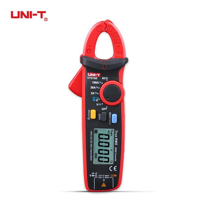 UNI-T Digital UT210E 100Amp 600V AC DC Clamp Meter True RMS VFC Diode Amperimertro Voltage Auto Range Capacitance Multimeter