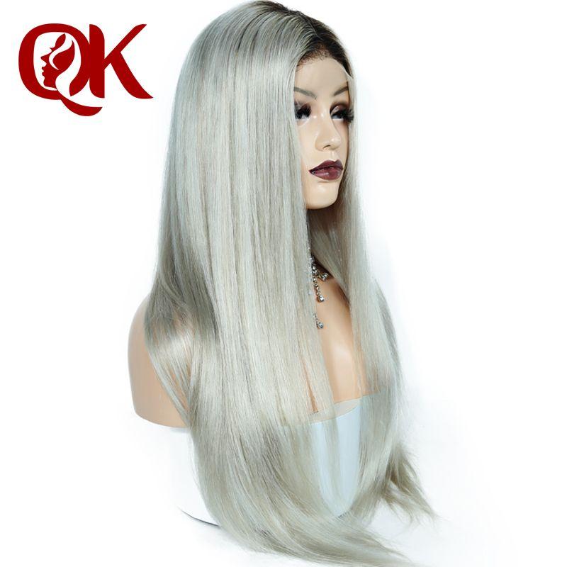Queenking Haar 150% Dichte Ombre Kim Kardashian Menschlichen Haar Perücke mit Baby Haar Vor Gezupft Volle Spitze Perücke Brasilianische Remy haar