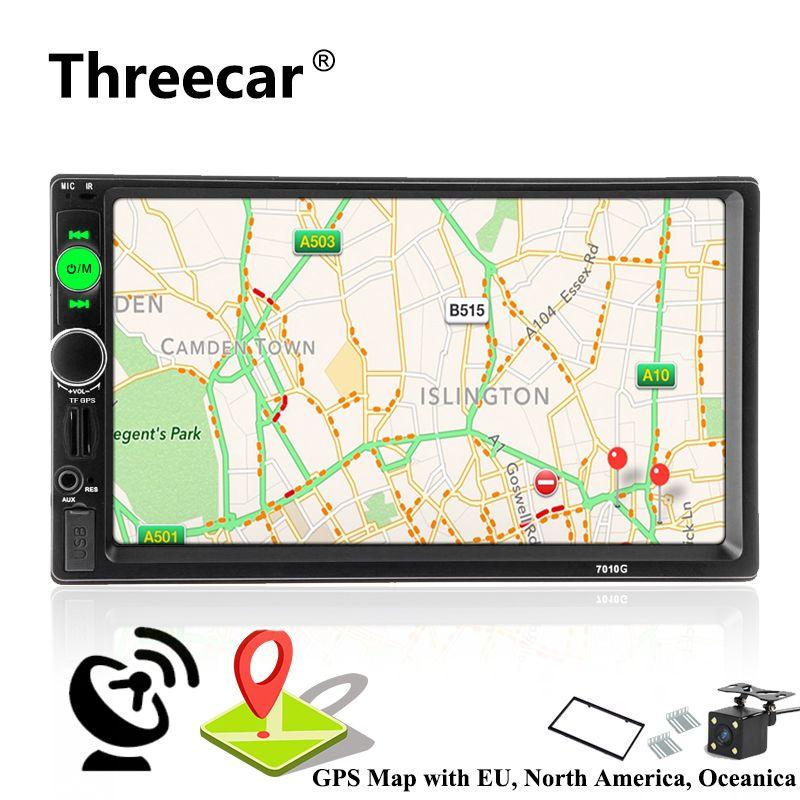 2 din autoradio Car Radio Multimedia Player GPS Navigation Camera Bluetooth MP4 MP5 Stereo Audio Auto Electronic steering-wheel