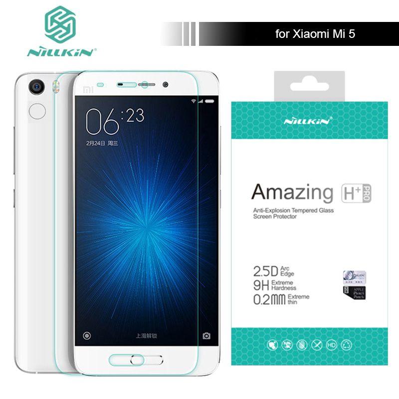 Nillkin pour Xiaomi Mi5 9 H Incroyable H/H + Pro 5.15 pouce trempé Protecteur D'écran En Verre Pour Xiaomi Mi 5 M5 Pro Premier Nilkin verre