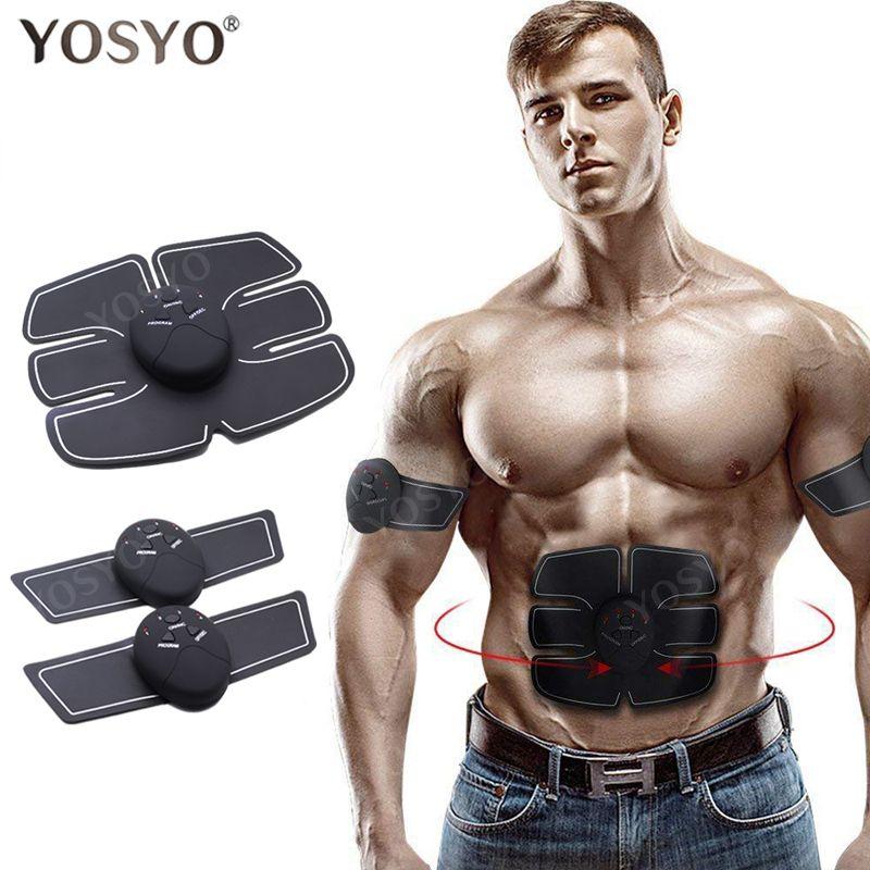 YOSYO EMS stimulateur musculaire Machine abdominale électrique ABS sans fil formateur Fitness perte de poids corps minceur Massage boîte de détail