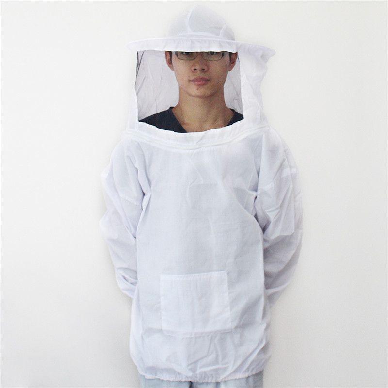Durable coton blanc apiculture veste voile robe Smock abeille apiculteur équipement outils costume avec chapeau
