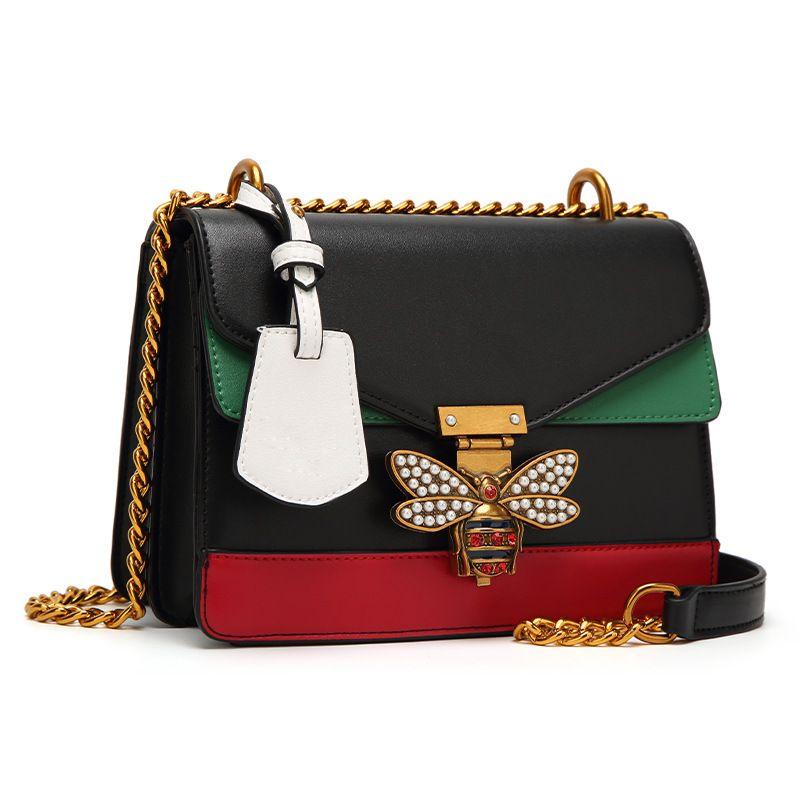 2018 Ruil Women Color splicing Little bee Bags Fashion Zipper Designer Handbag Casual Shoulder Messenger Bag New Sac Femme