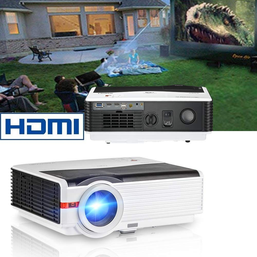 CAIWEI HD Video Projector 5000 Lumens Brightness with 200