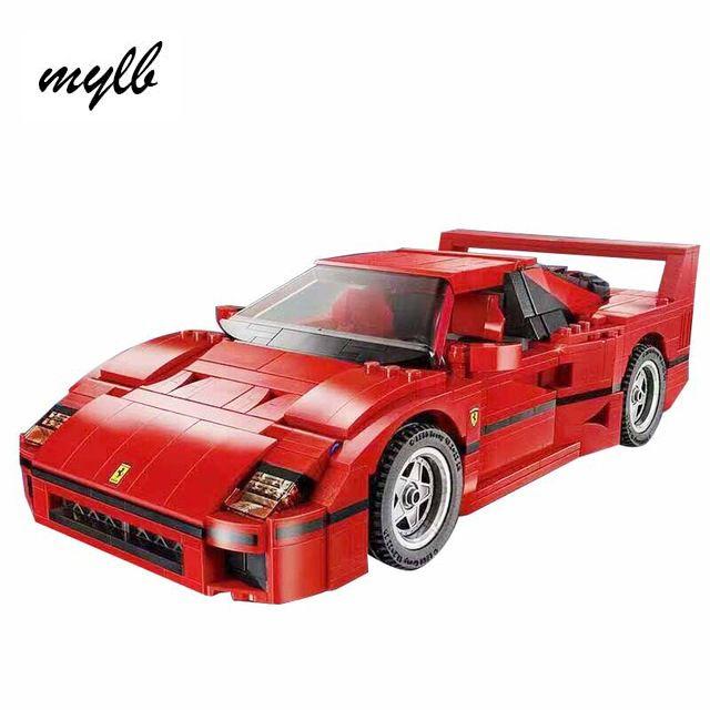 Mylb ferrarie F40 спортивная модель автомобиля строительный Конструкторы Наборы кирпичи Игрушечные лошадки Совместимость с DIY