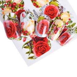 Полная красота 1 шт. стикер для ногтей опционально цветение красочный цветок Роза Валентина Вода полный обертывания наклейки для дизайна но...