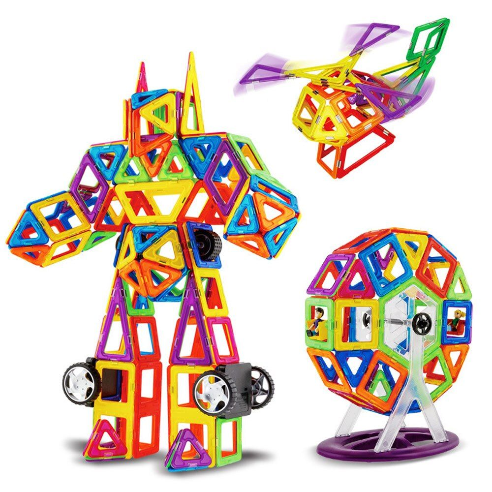 95pcs Standard Size DIY Magnetic Building Blocks Magic Magnet Pulling Magnetic Building Blocks Brick Assembled Toys for Children