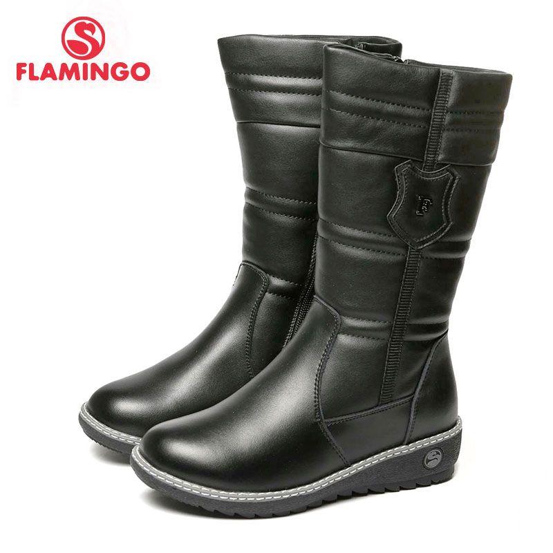 FLAMINGO 2017 neue kollektion wintermode hohe stiefel mit wolle hohe qualität anti-rutsch kinder schuhe für mädchen 72WC-CD-0502
