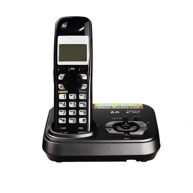 English Digital Cordless Phone With Answer Systerm Call ID Home Wireless Base Station Cordless Fixed Telephone For Office Home