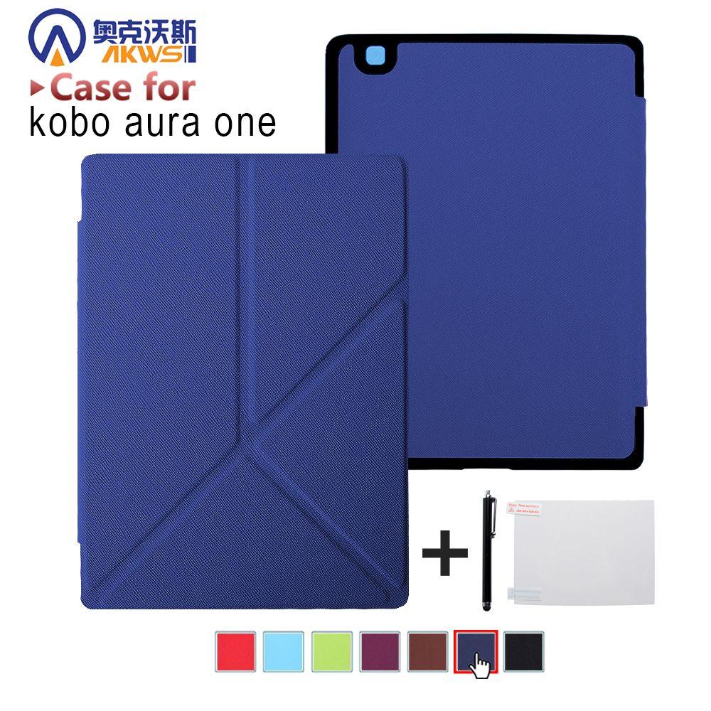 Housse de protection pour Kobo Aura One 7.8 pouces lecteur ebook magnétique auto réveil sommeil + protecteur d'écran + stylet comme cadeaux