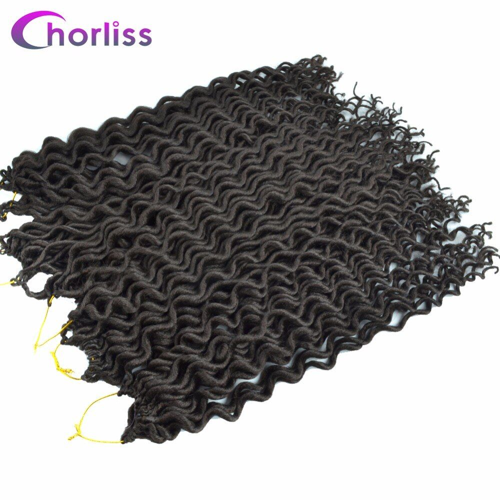 Chorliss 18Inches Faux Locs Curly Crochet Braids Synthetic Crochet Hair Extensions Braiding Hair Bundles 60g/pack 24Strands/Pack