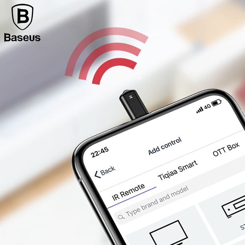 Baseus RO1 <font><b>Universal</b></font> infrared remote control for iPhone 7 8 8P X IR Wireless Smart Remote Control for TV Aircondition projector