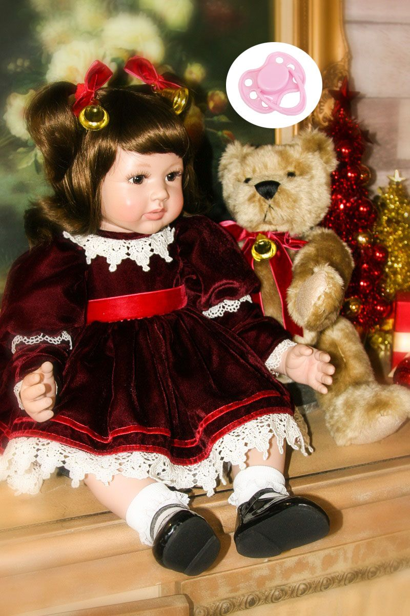 60cm Silicone Reborn Baby Doll Toys Like Real 24inch Vinyl Princess Toddler Girls Babies Dolls Kids Beautifully Birthday Present