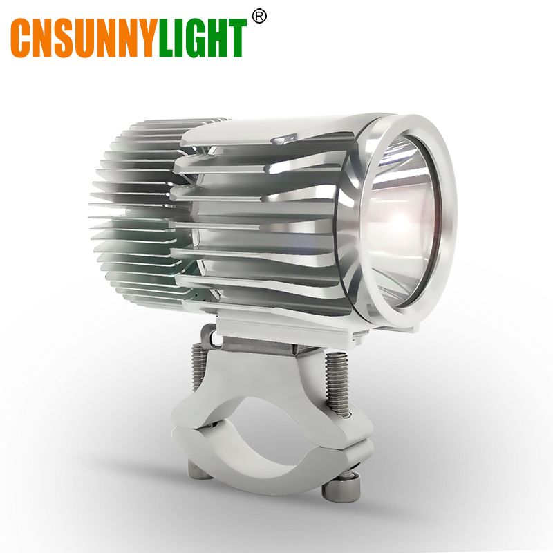 CNSUNNYLIGHT Motorcycle LED Headlight Spotlight 18W 2700Lm Super Bright White Moto Fog DRL Headlamp Hunting Driving Spot Lights