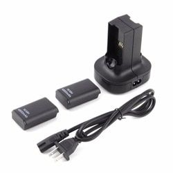 For Xbox360 Dual Charger Base Charging Station Dock 2 Rechargeable Battery 4800mAh For xbox 360 Controle Controller Gamepad