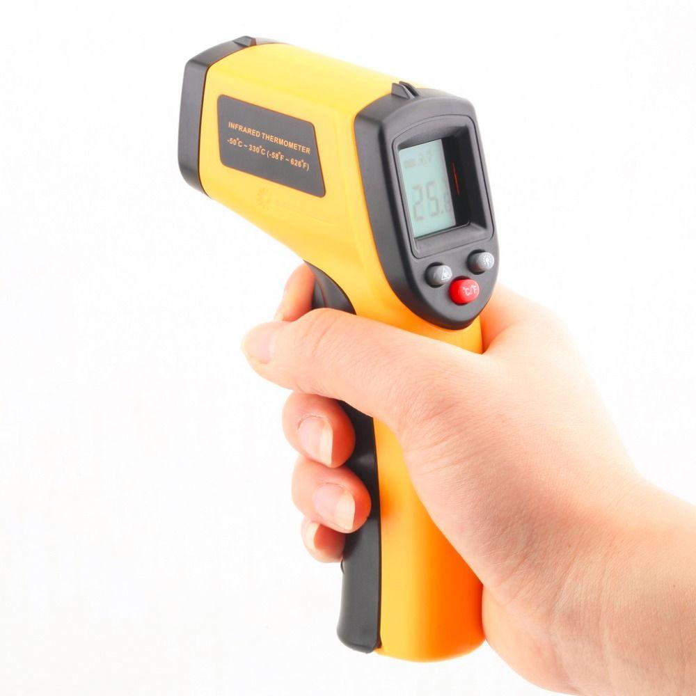 1 шт. GM320 Бесконтактный лазерный ЖК-дисплей Дисплей ИК инфракрасный цифровой C/F выбор поверхности Температура термометр для дома промышленн...
