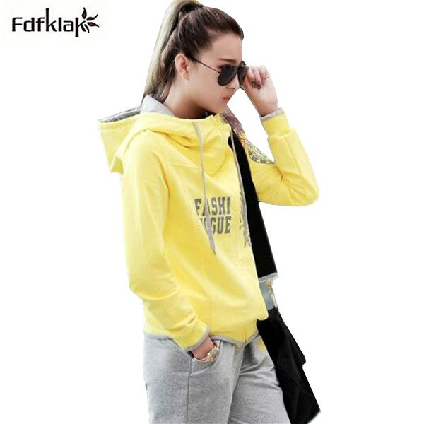 High Quality Women Autumn Winter 2 Piece Set Long Sleeve Hooded Tracksuits For Women Big Size Women's Set Clothing Q271