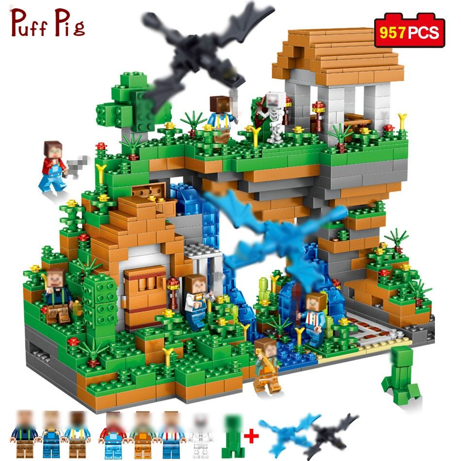 957pcs My World Ancient Castle Adventure Mini Animal Figures Building Blocks Compatible Minecraft Legoe City Bricks Children Toy