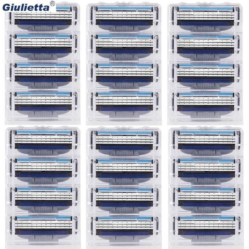 Giulietta Rasoir lames pour hommes 3 couche Haute qualité rasage cassettes soins du visage rasage lames gillettee Mâché 3