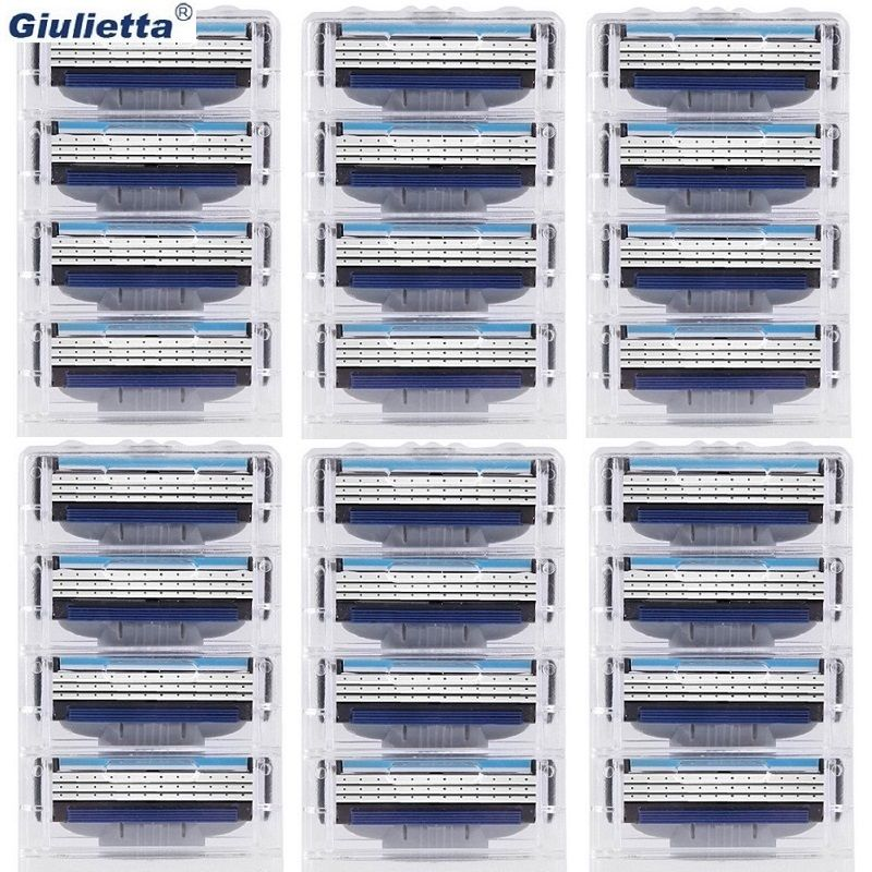 Giulietta Razor blades for men 3 layer High quality shaving cassettes facial care shaving blades gillettee Mache 3