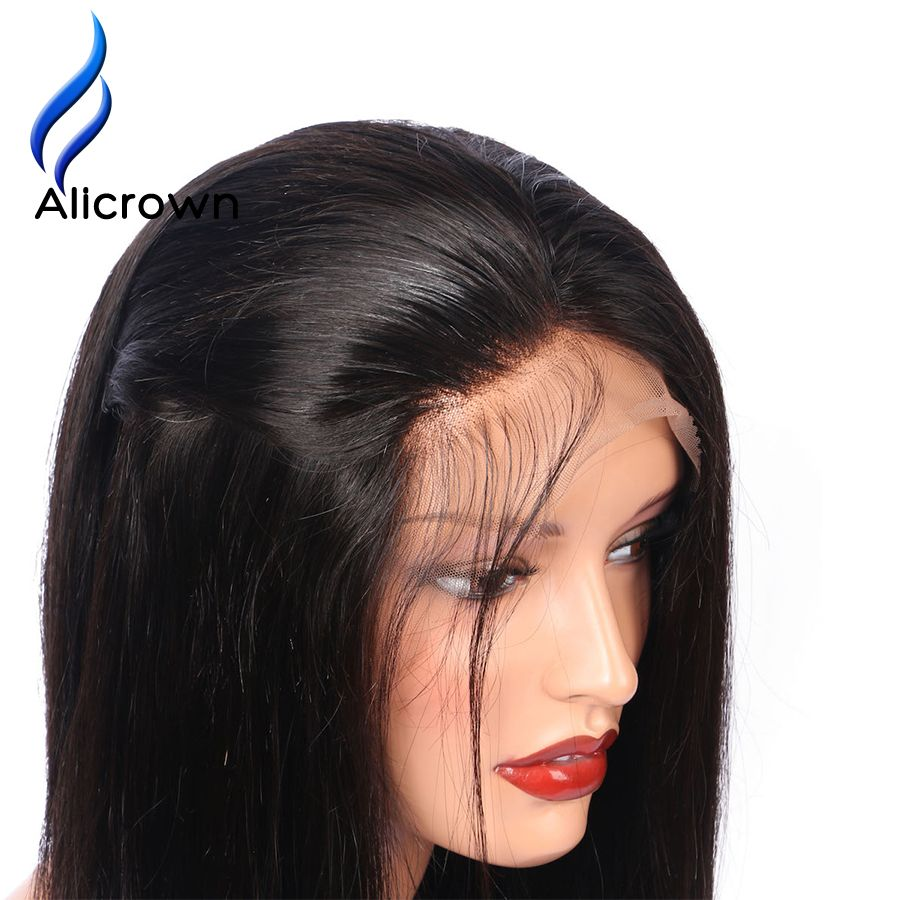 Alicrown Straight Lace Front Human Hair Wigs For Black Women Brazilian Remy Hair 8