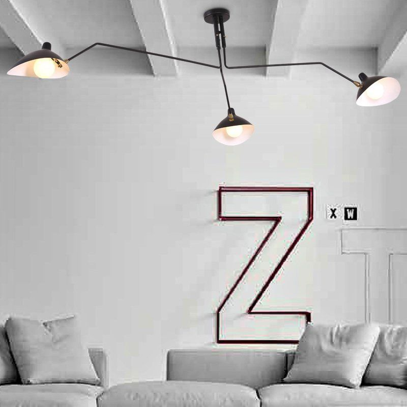 Retro industrial loft Nordic Iron lamp living room creative artistic personality Duckbill lampshade spider Ceiling light