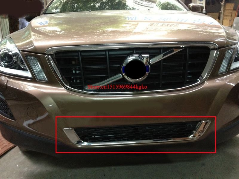 For 2009-2013 Volvo XC60 ABS Chrome Front Grille Around Trim Front bumper Around Trim Racing Grills Trim