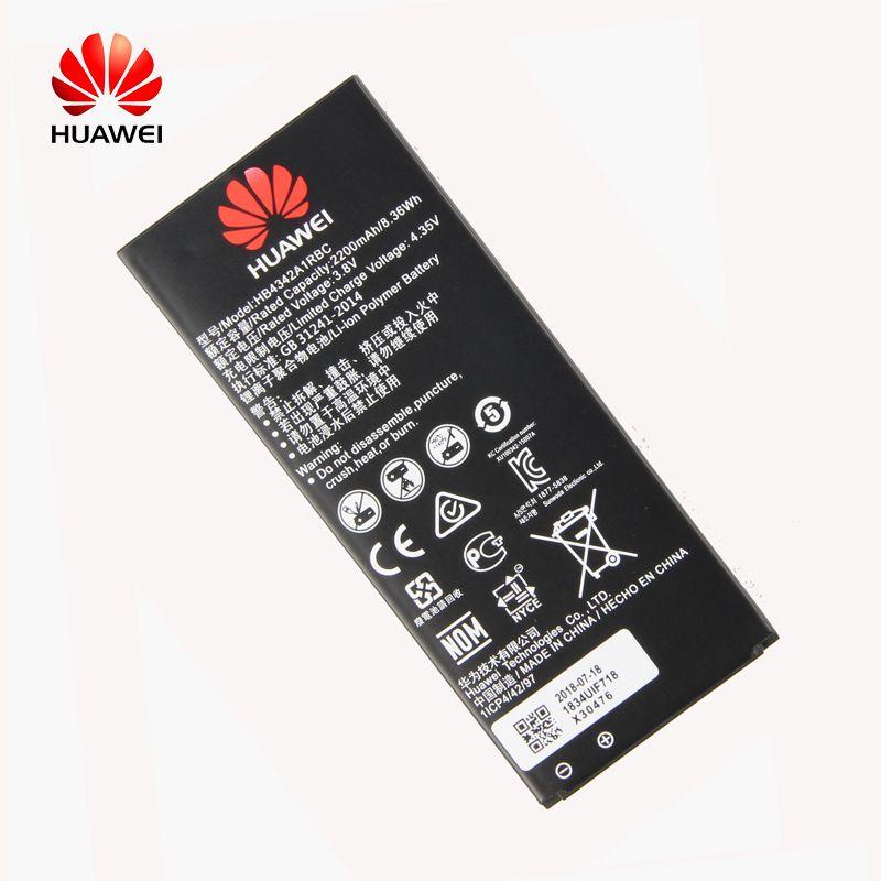 D'origine Huawei HB4342A1RBC Li-ion batterie de téléphone Pour Huawei y5II Y5 II 2 Ascend 5 + Y6 honneur 4A SCL-TL00 honneur 5A LYO-L21