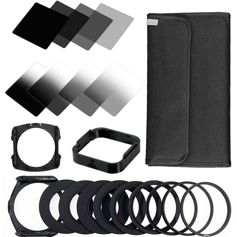 ZOMEI 22 in1 Gradient Neutral Density Gradual ND Filter Kit for Cokin P Series Set for DSLR Camera Lens