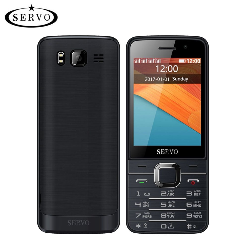 Quad SIM cartes 2.8 pouces HD grand écran 4 cartes SIM 4 téléphone de secours avec double caméra GPRS Bluetooth vibration MP4 clavier russe
