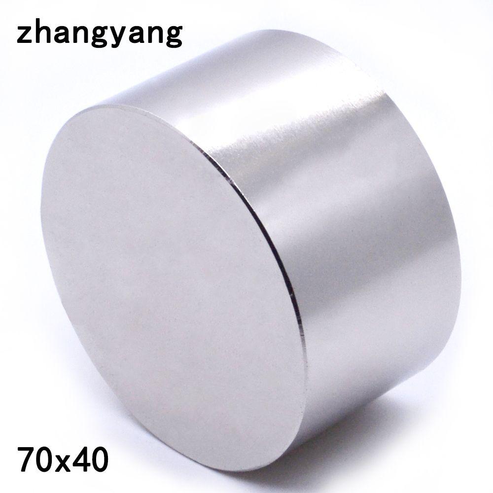 1 pièces N52 aimant néodyme 70X40mm métal gallium super forte aimants 70*40 aimant rond puissant magnétique permanent 70X40mm