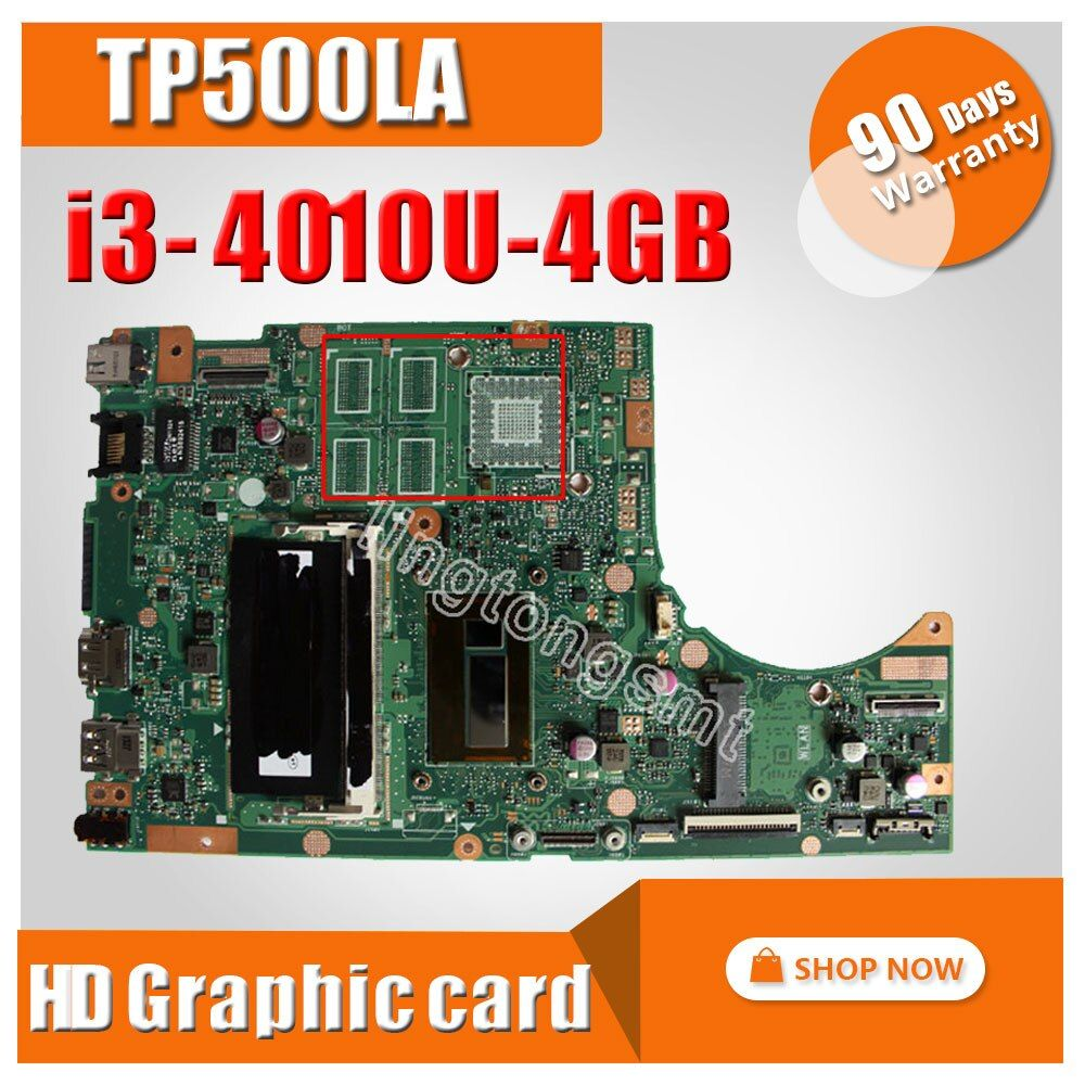 Original For ASUS Motherboard TP500L TP500LA TP500LN REV2.0 With I3-4010U Intergated 4GB Memory On Board 100% tested