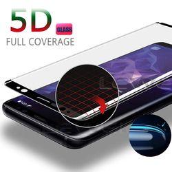 5D curvado cubierta completa de vidrio templado para Samsung Galaxy S8 S8 más película de Protector de pantalla para Samsung S9 más S7 borde A8 más caso