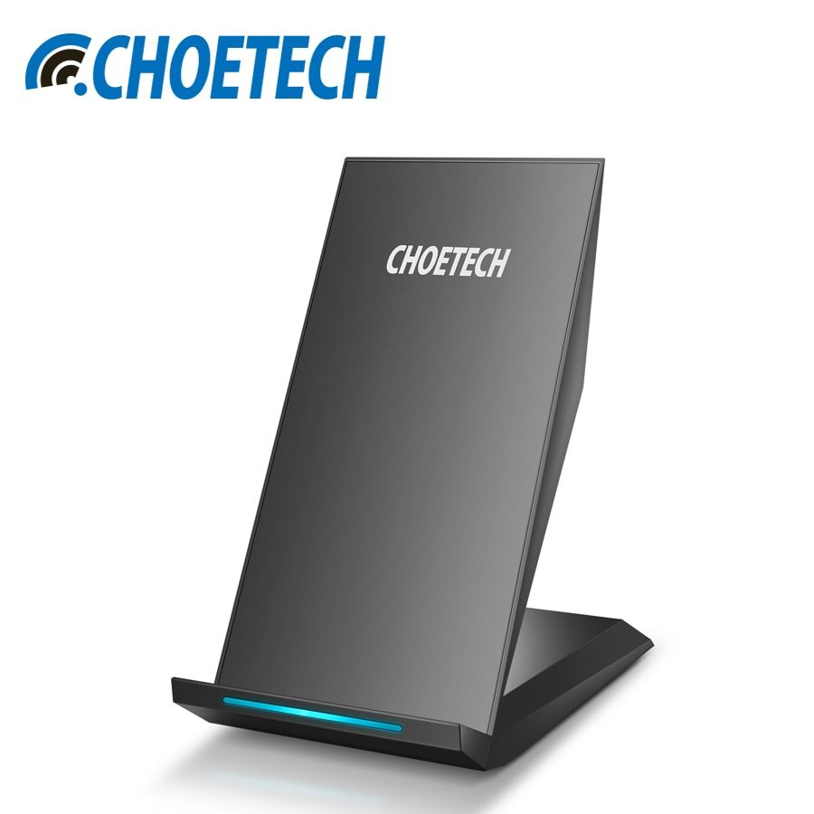 Qi Wireless Charger CHOETECH 10W 2 Coils Wireless Charger for Samsung Galaxy S8 Plus S7 S6 Note 5 <font><b>Fast</b></font> Wireless Charging Stand