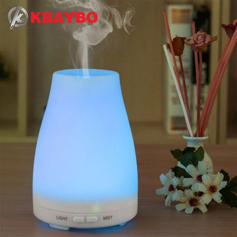 Ultrasonic Humidifier Aromatherapy Oil Diffuser Cool Mist With Color LED <font><b>Lights</b></font> essential oil diffuser Waterless Auto Shut-off