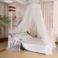 Élégant Classique romantique douce princesse étudiants Extérieure coup dôme moustiquaires Ronde Dentelle Insectes Lit à Baldaquin Compensation Rideau