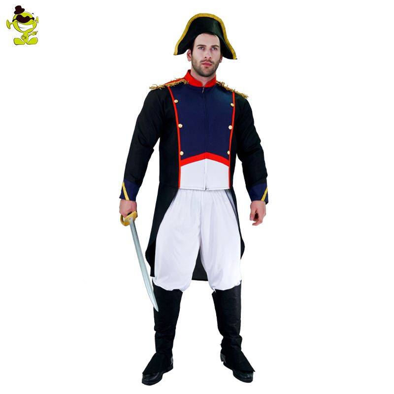 Brave Napoleon Costume Adults Man Halloween Party Worrier ImitationFancy Dress For Party Role Play Show Handsome Men Outfits