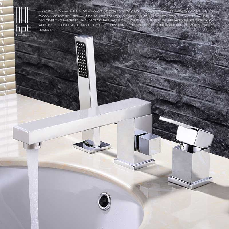 HPB Bathroom Faucet Mixer Bathroom Basin Faucet Basin Sink Mixer Tap Bath Sink Water Tap PullOut Chrome Finished Faucets HP3208a