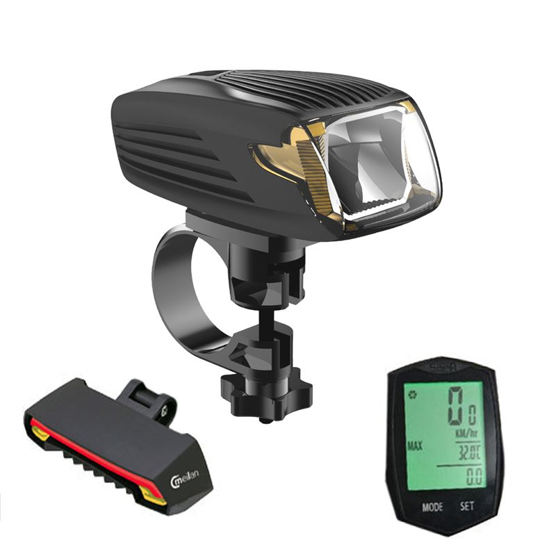 Bike Computer Speedometer stopwatch&Cmeilan X5 Rear lamp Cycling tail lights&Meilan X1 Smart Bicycle Light Bike Led Front Light