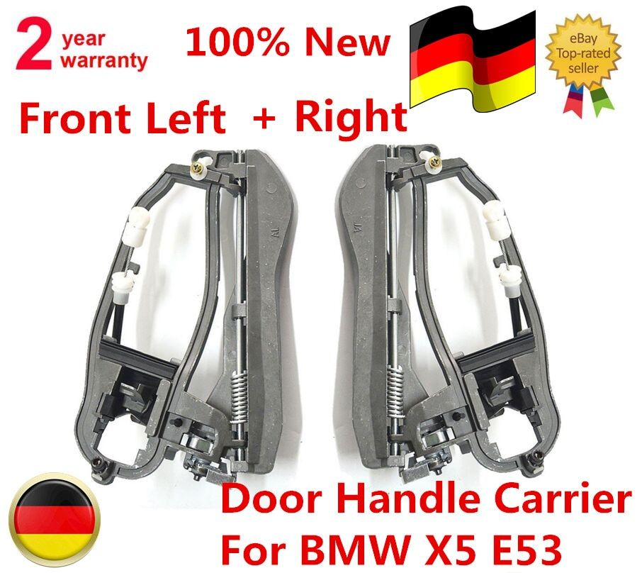51218243615,  51218243616   2 x Pcs / 1 Pair of Door Handle Carrier Front Left + Right For BMW X5 E53